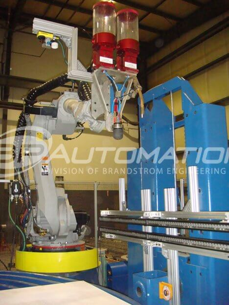 robotic pta mig welding with 14 ft 3d rotary table