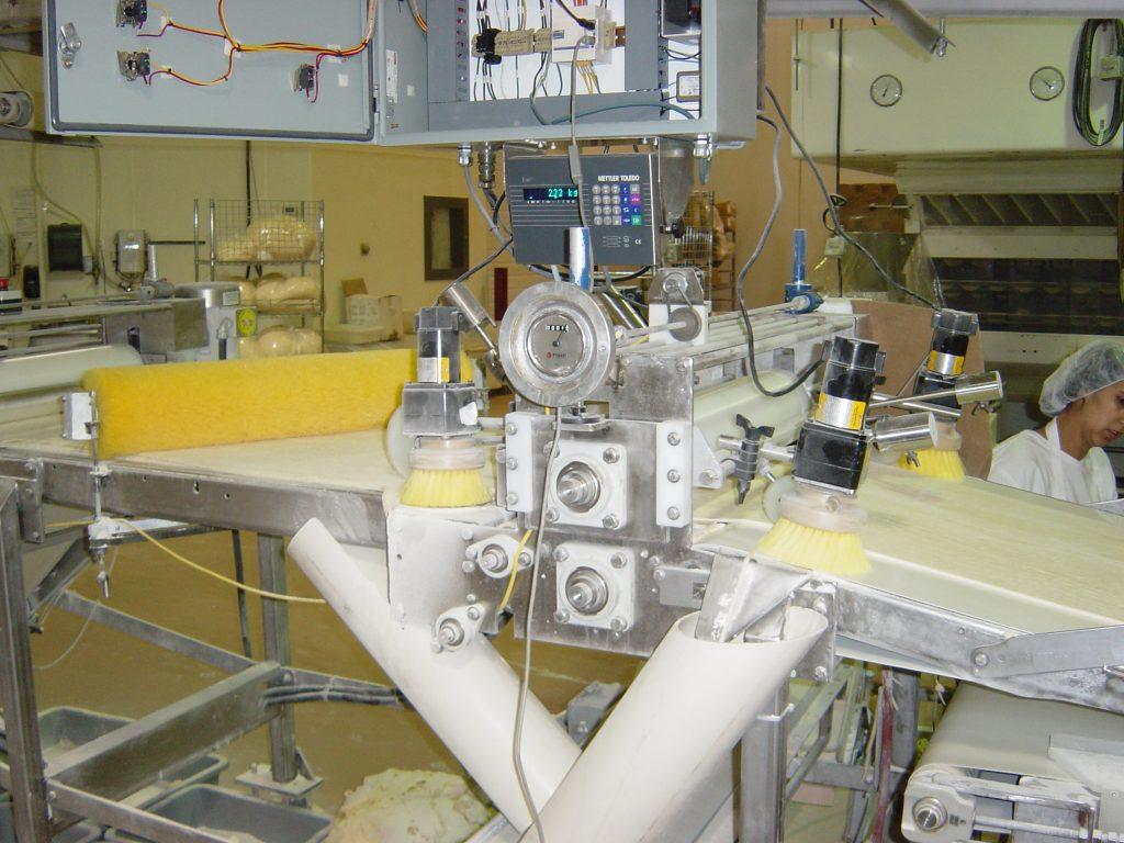 inline dough weight system